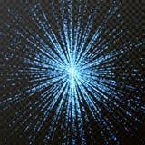Light shine glitering rays or beams glitter light effect on transparent background Stock Image