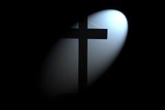 Light Shining on Cross Stock Images