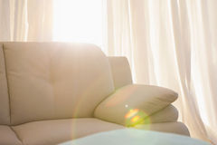 Light shining into living room Stock Images