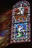 Light Shining through stained glass. Window Royalty Free Stock Images