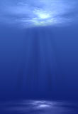 Light Shining Underwater Royalty Free Stock Photos