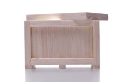 Light shining from a wooden crate Stock Photography
