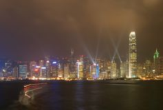 Light show. Everyday light show in hong-kong Stock Image