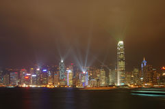 Light show. Everyday light show in hong-kong, china Royalty Free Stock Image