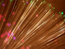 Light show. Optical-fibre transmission sy Stock Photography