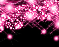 pink Heart Glow Valentine Royalty Free Stock Image
