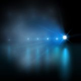 Light show. blue Vector illustration Royalty Free Stock Photo