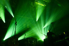 Light show at concert Royalty Free Stock Photography