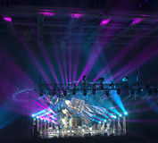 Light show at the Concert Stock Photography