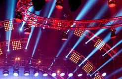Light show at the Concert Royalty Free Stock Photo