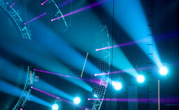 Light show at the Concert Royalty Free Stock Photography