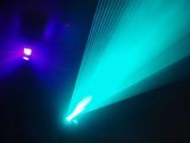 Light show in disco Stock Photos