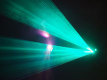 Light show in disco club Royalty Free Stock Image