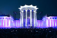 Light show at an exhibition (VDNH) in Moscow Stock Photos