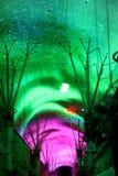 Light show on Fremont Street Stock Image