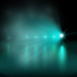 Light show. green Vector illustration. Royalty Free Stock Images