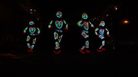 Light show group stock video footage