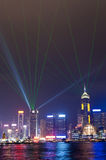 Light show in Hong Kong Stock Photos
