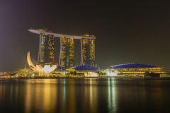 Light Show at Marina Bay Sands Royalty Free Stock Photography