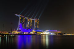 Light Show at Marina Bay Sands Royalty Free Stock Images