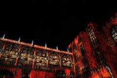 Light show at Palais des Papes, Avignon Royalty Free Stock Photo