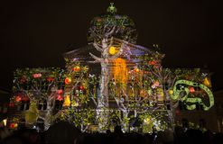 Light Show `Rendesz-vous Bundesplatz`, Bern, Switzerland Stock Image