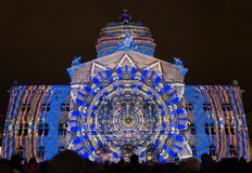 Light Show `Rendesz-vous Bundesplatz`, Bern, Switzerland Stock Photography