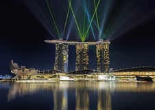 Light show in Singapore Stock Photography