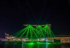 Light show at Singapore Marina Bay Sands Royalty Free Stock Photo