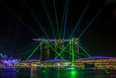 Light show at Singapore Marina Bay Sands Stock Photo