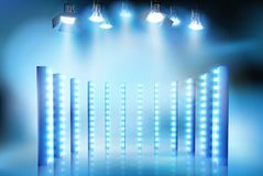 Light show on the stage. Vector illustration. stock illustration