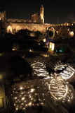 The Light show at the Tower of David Stock Photos