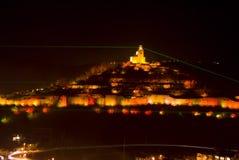 Light show Tsarevets fortress Royalty Free Stock Photos