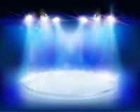 Light show. Vector illustration. Stock Photo