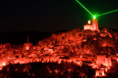 Light show in Veliko Tarnovo, Bulgaria Stock Photography