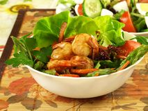 Light shrimp salad. Royalty Free Stock Photo