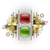 Light signal, red and green buttons Stock Photos