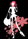 Light silhouette of a girl vector illustration
