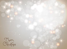 Light silver abstract Christmas background Royalty Free Stock Images