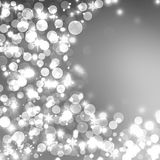 Light silver abstract Christmas background. With white snowflakes Royalty Free Stock Image