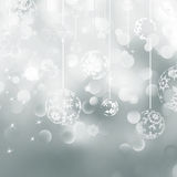 Light silver abstract Christmas. EPS 8 Royalty Free Stock Images
