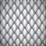 Light silver leather upholstery. Background Royalty Free Stock Photos