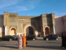 Light sky meknes marocco people Royalty Free Stock Photos