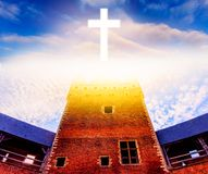 Light from sky . Religion background . royalty free stock images