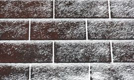Light Snow on Shingles Royalty Free Stock Images
