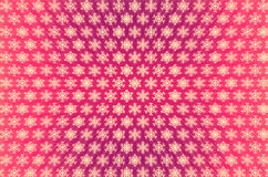 Light snowflakes. Pattern of light snowflakes painted on a pink background Stock Photography