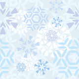 Light Snowflakes Pattern. Light seamless snowflakes pattern tile Royalty Free Stock Image