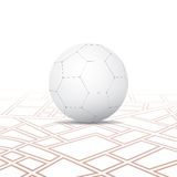 Light Soccer Ball On The Map Royalty Free Stock Photos