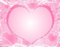 Light Soft Pink Heart Background Frame Stock Photos