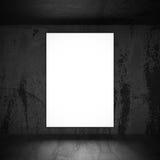 Light softbox banner billboard on rusty dark wall. 3d render illustration Stock Photography